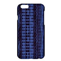 Wrinkly Batik Pattern   Blue Black Apple Iphone 6 Plus/6s Plus Hardshell Case by EDDArt