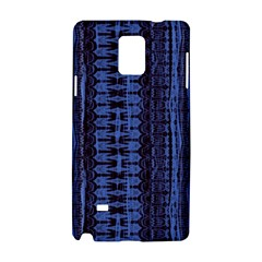 Wrinkly Batik Pattern   Blue Black Samsung Galaxy Note 4 Hardshell Case by EDDArt