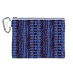 Wrinkly Batik Pattern   Blue Black Canvas Cosmetic Bag (l) by EDDArt