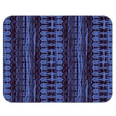 Wrinkly Batik Pattern   Blue Black Double Sided Flano Blanket (medium)  by EDDArt