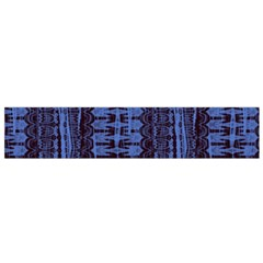 Wrinkly Batik Pattern   Blue Black Flano Scarf (small) by EDDArt