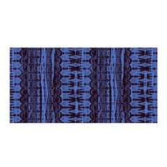 Wrinkly Batik Pattern   Blue Black Satin Wrap by EDDArt
