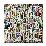 Colorful Retro Style Letters Numbers Stars Tile Coasters