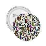 Colorful Retro Style Letters Numbers Stars 2.25  Buttons