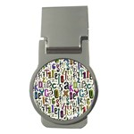 Colorful Retro Style Letters Numbers Stars Money Clips (Round)