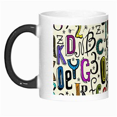 Colorful Retro Style Letters Numbers Stars Morph Mugs by EDDArt