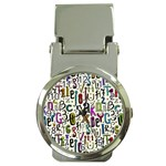 Colorful Retro Style Letters Numbers Stars Money Clip Watches