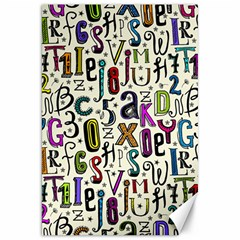 Colorful Retro Style Letters Numbers Stars Canvas 20  X 30   by EDDArt