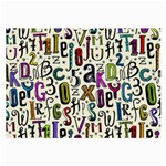 Colorful Retro Style Letters Numbers Stars Large Glasses Cloth (2-Side)