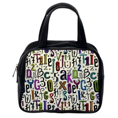 Colorful Retro Style Letters Numbers Stars Classic Handbags (one Side) by EDDArt