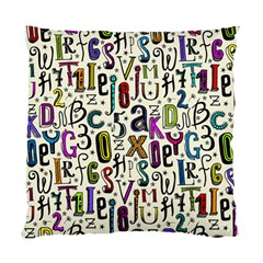 Colorful Retro Style Letters Numbers Stars Standard Cushion Case (one Side) by EDDArt