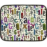 Colorful Retro Style Letters Numbers Stars Fleece Blanket (Mini)