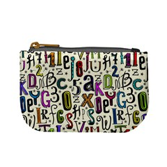 Colorful Retro Style Letters Numbers Stars Mini Coin Purses by EDDArt