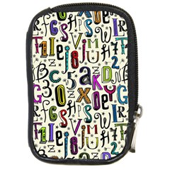 Colorful Retro Style Letters Numbers Stars Compact Camera Cases by EDDArt
