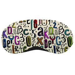 Colorful Retro Style Letters Numbers Stars Sleeping Masks by EDDArt