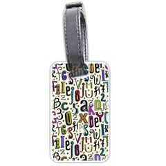 Colorful Retro Style Letters Numbers Stars Luggage Tags (two Sides) by EDDArt