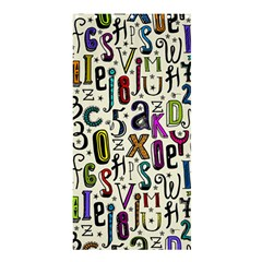 Colorful Retro Style Letters Numbers Stars Shower Curtain 36  X 72  (stall)  by EDDArt