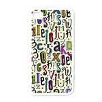 Colorful Retro Style Letters Numbers Stars Apple iPhone 4 Case (White)