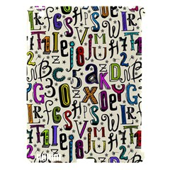 Colorful Retro Style Letters Numbers Stars Apple Ipad 3/4 Hardshell Case (compatible With Smart Cover) by EDDArt