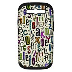 Colorful Retro Style Letters Numbers Stars Samsung Galaxy S III Hardshell Case (PC+Silicone)