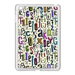 Colorful Retro Style Letters Numbers Stars Apple iPad Mini Case (White)