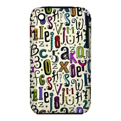 Colorful Retro Style Letters Numbers Stars Iphone 3s/3gs by EDDArt