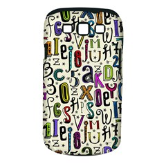 Colorful Retro Style Letters Numbers Stars Samsung Galaxy S Iii Classic Hardshell Case (pc+silicone) by EDDArt