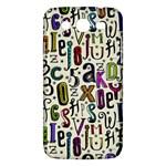 Colorful Retro Style Letters Numbers Stars Samsung Galaxy Mega 5.8 I9152 Hardshell Case