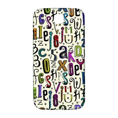 Colorful Retro Style Letters Numbers Stars Samsung Galaxy S4 I9500/i9505  Hardshell Back Case by EDDArt