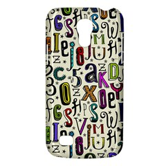 Colorful Retro Style Letters Numbers Stars Galaxy S4 Mini by EDDArt
