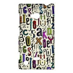 Colorful Retro Style Letters Numbers Stars Nokia Lumia 720 by EDDArt
