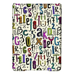 Colorful Retro Style Letters Numbers Stars Ipad Air Hardshell Cases by EDDArt