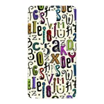 Colorful Retro Style Letters Numbers Stars Samsung Galaxy Note 3 N9005 Hardshell Back Case