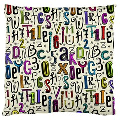 Colorful Retro Style Letters Numbers Stars Standard Flano Cushion Case (two Sides) by EDDArt
