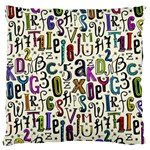 Colorful Retro Style Letters Numbers Stars Standard Flano Cushion Case (Two Sides)