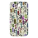 Colorful Retro Style Letters Numbers Stars Samsung Galaxy Mega I9200 Hardshell Back Case