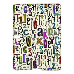 Colorful Retro Style Letters Numbers Stars Samsung Galaxy Tab S (10 5 ) Hardshell Case  by EDDArt