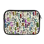 Colorful Retro Style Letters Numbers Stars Apple MacBook Pro 17  Zipper Case