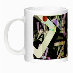Chaos With Letters Black Multicolored Night Luminous Mugs by EDDArt