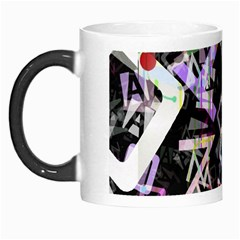 Chaos With Letters Black Multicolored Morph Mugs by EDDArt