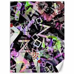 Chaos With Letters Black Multicolored Canvas 36  X 48   by EDDArt