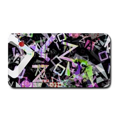 Chaos With Letters Black Multicolored Medium Bar Mats by EDDArt
