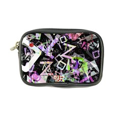 Chaos With Letters Black Multicolored Coin Purse by EDDArt