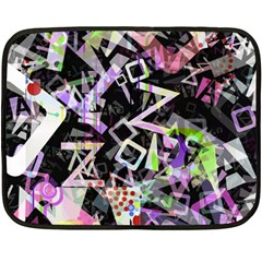 Chaos With Letters Black Multicolored Double Sided Fleece Blanket (mini)  by EDDArt