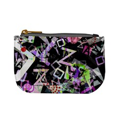 Chaos With Letters Black Multicolored Mini Coin Purses by EDDArt