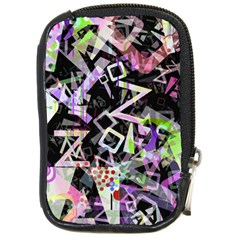 Chaos With Letters Black Multicolored Compact Camera Cases by EDDArt