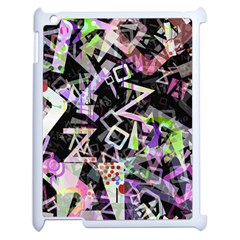 Chaos With Letters Black Multicolored Apple Ipad 2 Case (white) by EDDArt