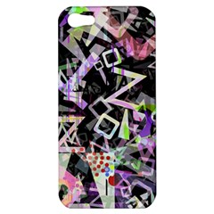 Chaos With Letters Black Multicolored Apple Iphone 5 Hardshell Case by EDDArt