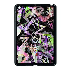 Chaos With Letters Black Multicolored Apple Ipad Mini Case (black) by EDDArt
