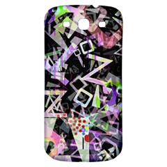 Chaos With Letters Black Multicolored Samsung Galaxy S3 S Iii Classic Hardshell Back Case by EDDArt